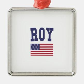 Roy US Flag Metal Ornament