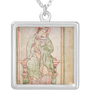 Roy Virgin and child above Square Pendant Necklace