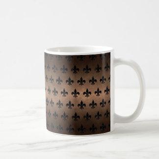 ROYAL1 BLACK MARBLE & BRONZE METAL COFFEE MUG