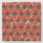 Royal1 Black Marble & Red Marble Stone Coaster at Zazzle