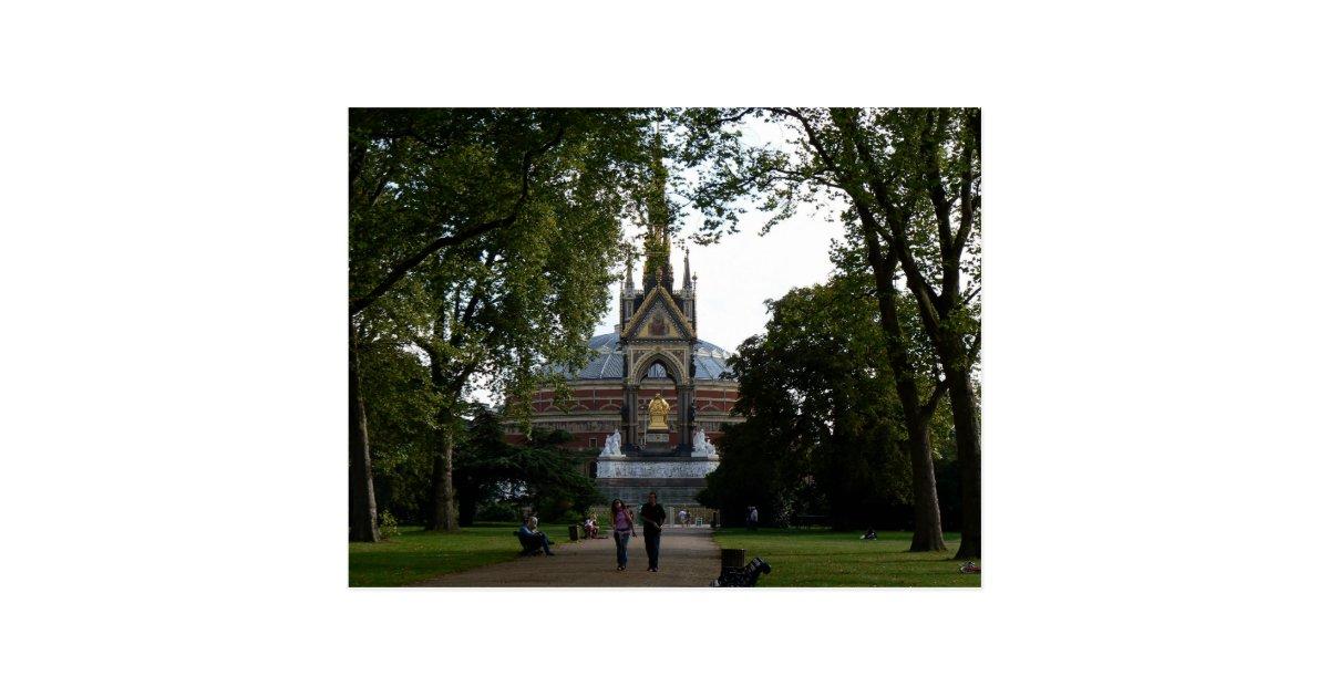 Royal albert hall and prince albert memorial postcard zazzle for Door 8 albert hall