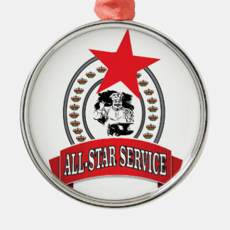 royal all-star service metal ornament