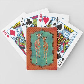 Royal Amber & Azure Giraffes Card Deck