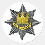 Royal Anglian Regiment Small Circular Sticker