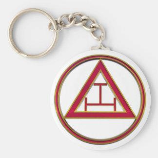 Royal Arch Triple Tau Basic Round Button Keychain