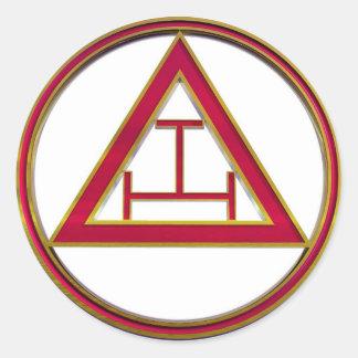 Royal Arch Triple Tau Classic Round Sticker
