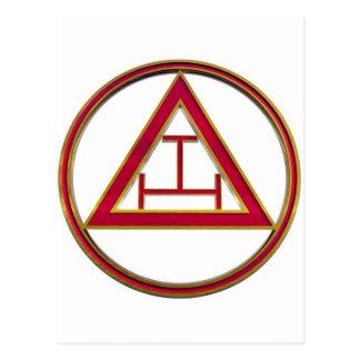 Royal Arch Triple Tau Postcard