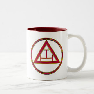 Royal Arch Triple Tau Two-Tone Coffee Mug