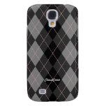 Royal Argyle Gray Pink Galaxy S4 Cover