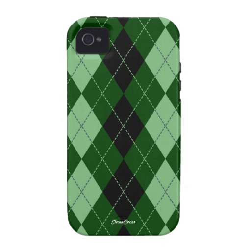 Royal Argyle Green Mint iPhone 4/4S Case Mate