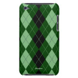 Royal Argyle Green Mint Touch  iPod Case-Mate Cases