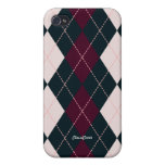 Royal Argyle Pink Blue 4/4S  iPhone 4/4S Cases