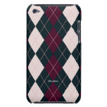 Royal Argyle Pink Blue Touch  iPod Touch Cases