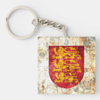 Royal Arms of England Single-Sided Square Acrylic Keychain