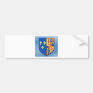 ROYAL ARMS OF MARY QUEEN OF SCOTS FRANCE AND ENGLA BUMPER STICKER