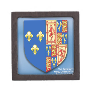 ROYAL ARMS OF MARY QUEEN OF SCOTS FRANCE AND ENGLA PREMIUM TRINKET BOX