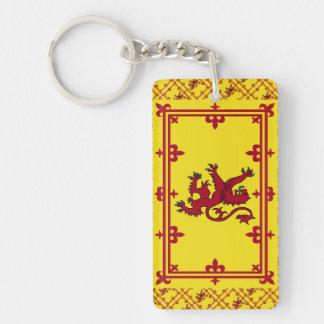 Royal Arms of Scotland Flag Pattern Single-Sided Rectangular Acrylic Keychain