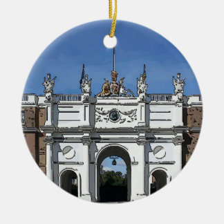 Royal Artillery Barracks Woolwich Double-Sided Ceramic Round Christmas Ornament