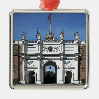 Royal Artillery Barracks Woolwich Square Metal Christmas Ornament