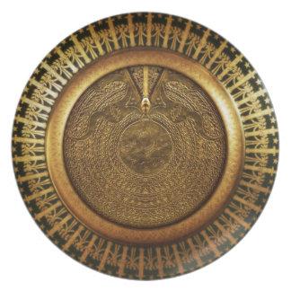 Royal Asatru: Golden Fylfot Dinner Plate