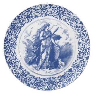 Royal Asatru: Noble Freya Dinner Plate