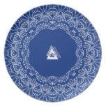 Royal Asatru: Valknut Lace Plates