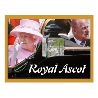 Royal Ascot Diamond Jubilee portrait postcard