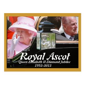 Royal Ascot Queens Diamond Jubilee Postcard