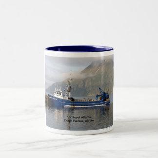 Royal Atlantic, Fishing Trawler in Dutch Harbor Two-Tone Coffee Mug