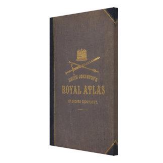 Royal atlas of modern geography canvas print