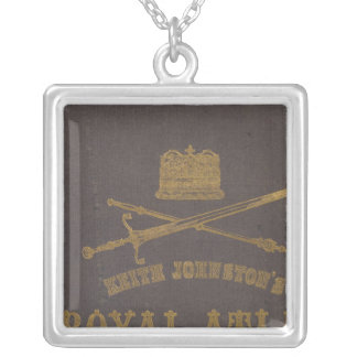 Royal atlas of modern geography square pendant necklace