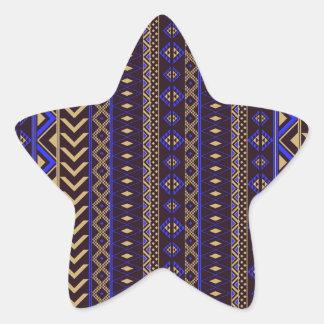 Royal Aztec Pattern. Star Sticker