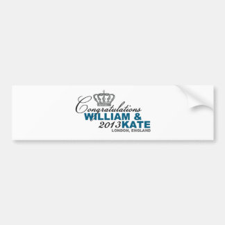 Royal Baby 2013: Congratulations William & Kate Bumper Sticker