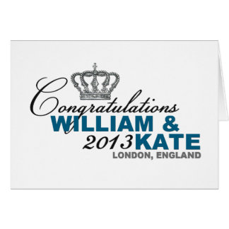 Royal Baby 2013: Congratulations William & Kate Greeting Card