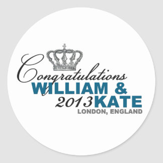 Royal Baby 2013: Congratulations William & Kate Classic Round Sticker