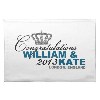 Royal Baby 2013: Congratulations William & Kate Cloth Placemat