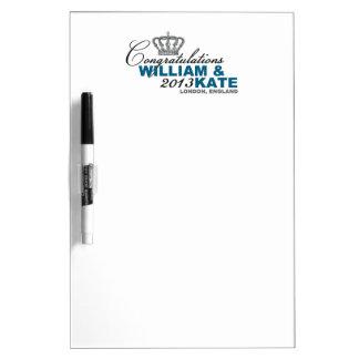 Royal Baby 2013 Congratulations William Kate Dry-Erase Board