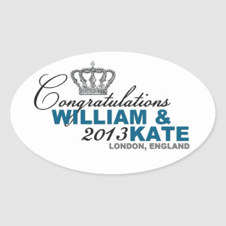 Royal Baby 2013: Congratulations William & Kate Oval Sticker