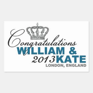 Royal Baby 2013: Congratulations William & Kate Rectangular Sticker