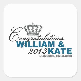 Royal Baby 2013: Congratulations William & Kate Square Sticker
