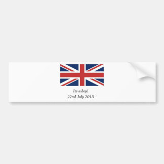 royal baby birth william and kate heir bumper sticker