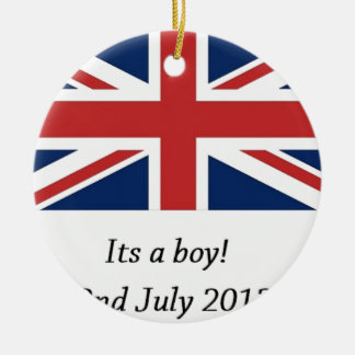 royal baby birth william and kate heir ceramic ornament