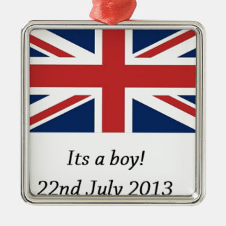 royal baby birth william and kate heir metal ornament