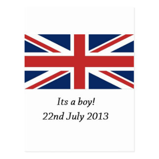 royal baby birth william and kate heir postcard