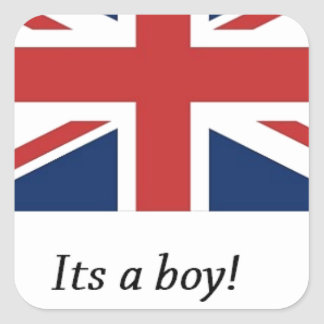 royal baby birth william and kate heir square sticker