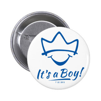 Royal baby born pinback buttons