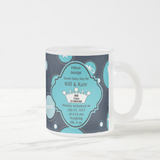 Royal Baby Boy for William and Catherine 2013 Frosted Glass Coffee Mug