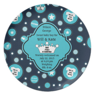 Royal Baby Boy for William and Catherine 2013 Plate