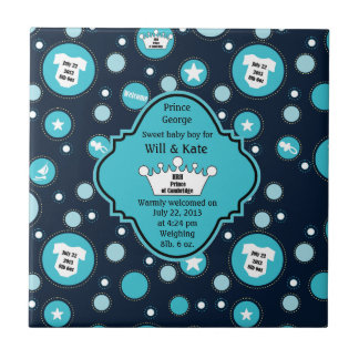 Royal Baby Boy for William and Catherine 2013 Tile