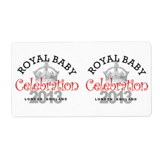 Royal Baby Celebration Personalized Shipping Label